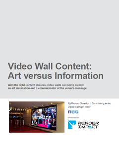 Video Wall Content Art Information White Paper Digital Signage