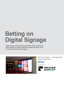 Digital Signage Casino Case Study Motion Graphics Content