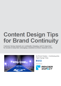 Digital Signage Content Design Tips Brand Continuity Motion Graphics White Paper