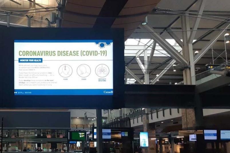 Digital Signage Coronavirus Render Impact